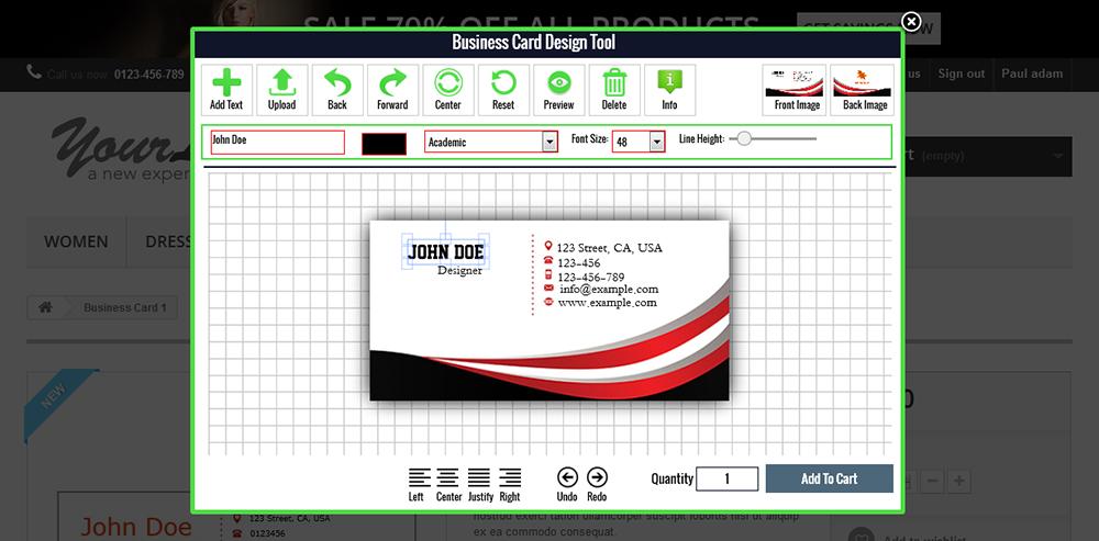 CodeInterest - Prestashop Custom Business Card & Flyer Design