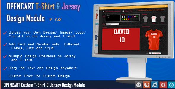 Codeinterest Opencart Jersey And T Shirt Design