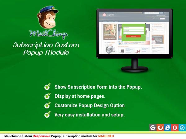 Mailchimp Custom Popup Subscription for wordpress - 16